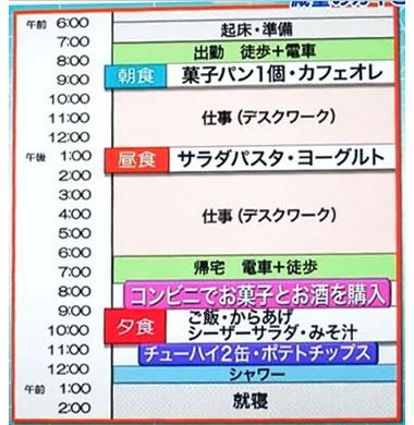 松島さんスケジュールです。
