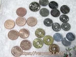 きれいになった小銭です。