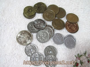 お財布に入っていた小銭です。