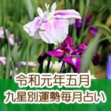 令和元年五月の九星別運勢です。
